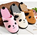 Hot Autumn Winter Warm Slippers Cute Cartoon Panda Women Girl Winter Household Slipper Soft Non-slip Plush Home Floor Shoes