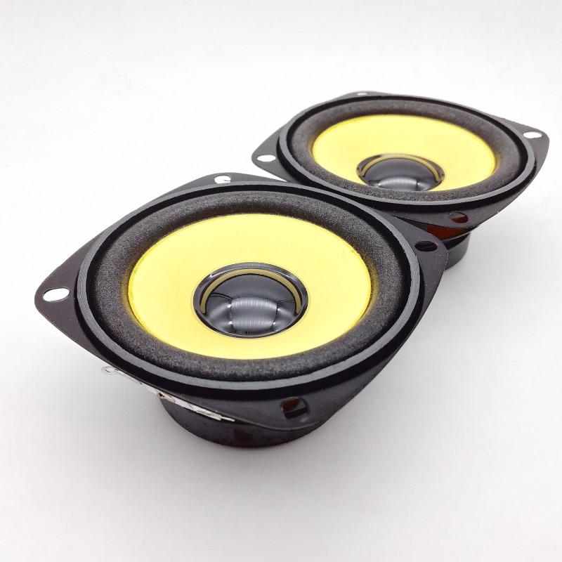 2pcs 3 inch Full Range Speaker Gold Foam Edge Black Magnetics
