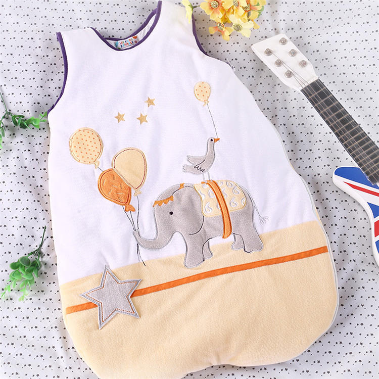 ФОТО Velvet Baby Sleeping Bag Vest Winter - Style Embroidery High - Quality Cotton Baby Anti - Kick LD1124049