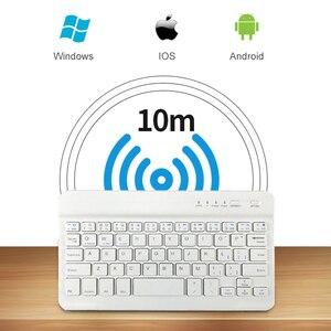 Image 4 - Portátil sem fio bluetooth teclado para ipad iphone macbook recarregável mini teclado para ipad ar pro 2017 2018 tablet teclado