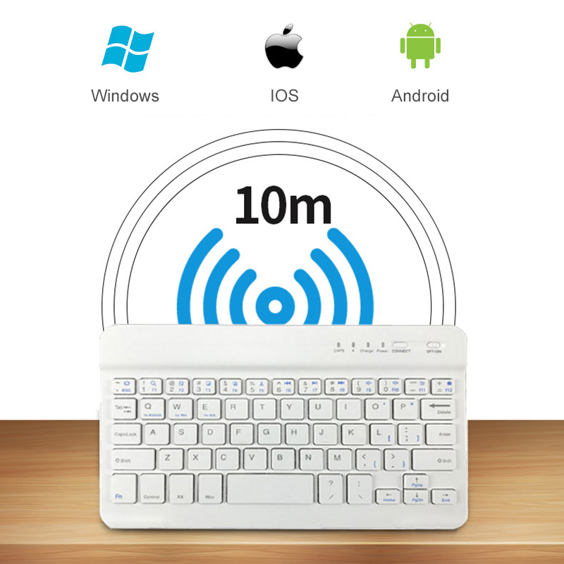 Image 4 - Portable Wireless Bluetooth Keyboard For iPad iPhone Macbook Rechargeable Mini Keyboard For iPad Air Pro 2017 2018 Tablet Keypad-in Keyboards from Computer & Office