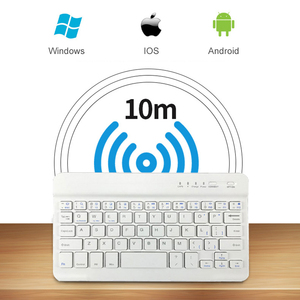 Image 4 - Portable Wireless Bluetooth Keyboard For iPad iPhone Macbook Rechargeable Mini Keyboard For iPad Air Pro 2017 2018 Tablet Keypad