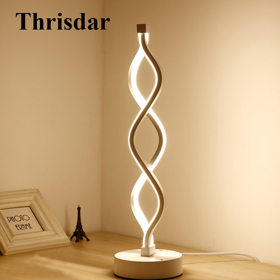 Thrisdar Musical Notes Creative LED Table Lamp Modern Art Bedroom Bedside Desk Table Light Lamp Living Room Study Reading Light стоимость