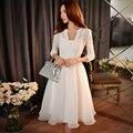 Original 2017 Brand Vestidos De Fiesta Sping Plus Size V Neck Elastic Waist Casual Elegant White Women Party Dresses Wholesale