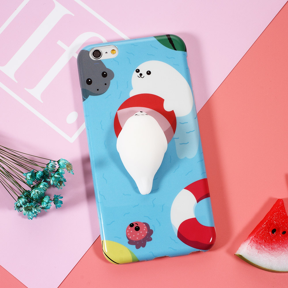 squishi phone case for iphone 7 7 plus 3d cute soft silicone pappy squishy cat for i6 6s plus. Black Bedroom Furniture Sets. Home Design Ideas