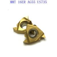 ag55 vp15tf ue6020 MMT16ER AG55 VP15TF / UE6020 / US735 קרביד משורשר Blade עבור חוט פנימי הפיכת חוט חיצוני מפנה CNC כלי מחרטה כלי (1)