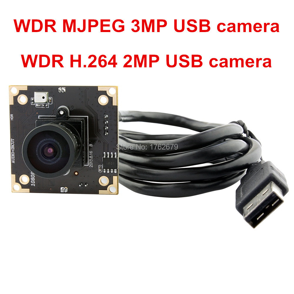 все цены на 3MP@ MJPEG 15fps / 2MP@H264 30fps USB2.0 1/3 Aptina AR0331 Color CMOS Sensor WDR USB Camera module with megapixel 2.9mm lens