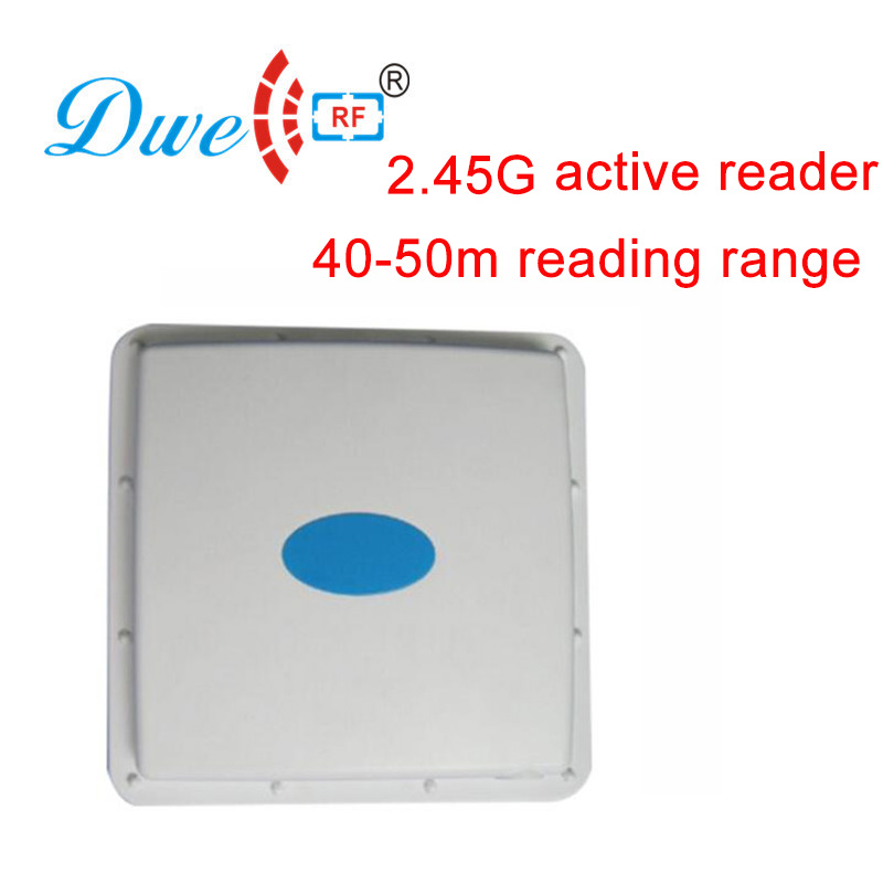 DWE CC RF access control card reader active rfid reader integrative design anti-collision 10 meter rfid readers