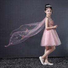 Summer Pink princess dress Fashion Flower girl dress 2019 new children host dress show show costume tail tutu