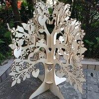ウェディングsignaturゲストブックツリー訪問記号木製ゲストブックハートペン