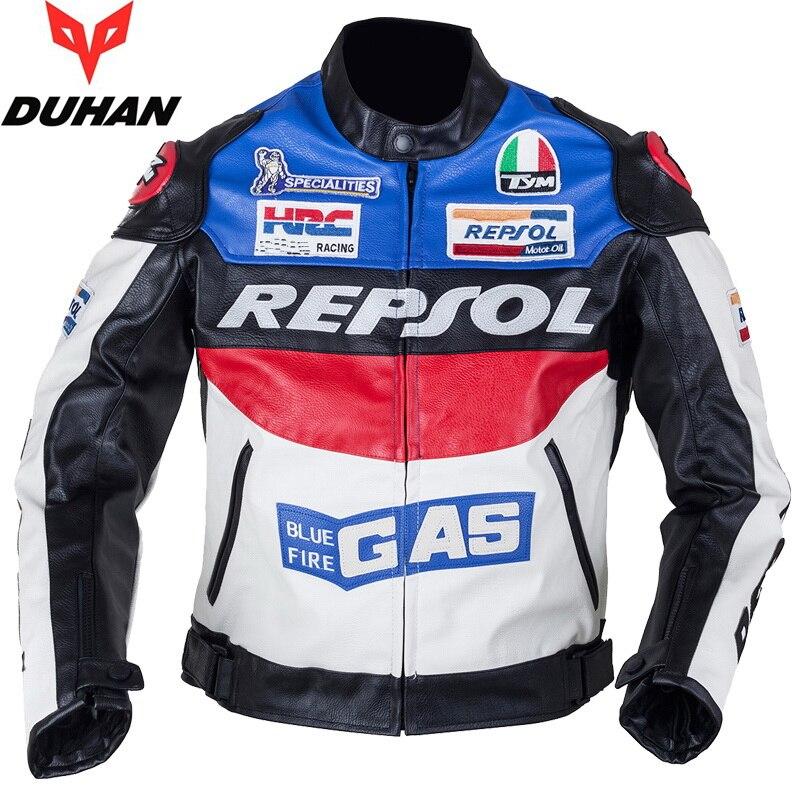 DUHAN Moto vêtements de Moto costumes REPSOL PU cuir hommes Moto veste vêtements printemps Anti-automne manteau - 3