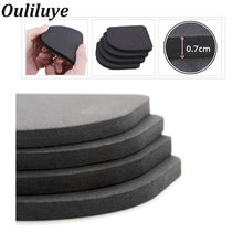 4PCS/Set Kitchen Furniture Leg Rubber Pads Multifunctional Anti-Vibration Non-slip Mats Refrigerator Washing Machine Rubber Pads(China)