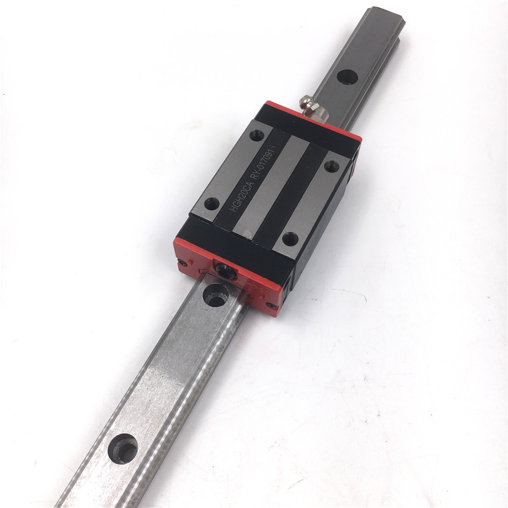 15mm Linear Rail Guide HGR15 L=350mm-1000mm Linear Guideway + 2pcs HGH15CAZAC Square Rail Block Preload Accuracy Replace HIWIN ball linear rail guide roller shaft guideway toothed belt driven