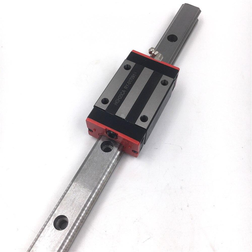 15mm Rail de Guidage Linéaire HGR15 L = 350mm-1000mm voie de Guidage Linéaire + 2 pcs HGH15CAZAC Carré Rail Bloc Précharge Précision Remplacer HIWIN