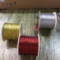 5pcs/Bag Fashion Metallic Color Thread Metallic Cord Plastic Spool Mixed Colors 100m/PC Beads Beads Craft Wire Jewelry Marking
