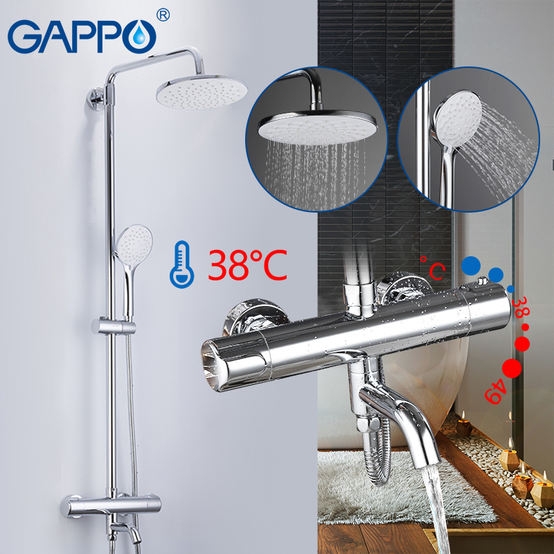 GAPPO Bathtub Faucets thermostatic shower faucet bath mixer rain shower set bathtub faucet water mixer waterfall tapware faucet