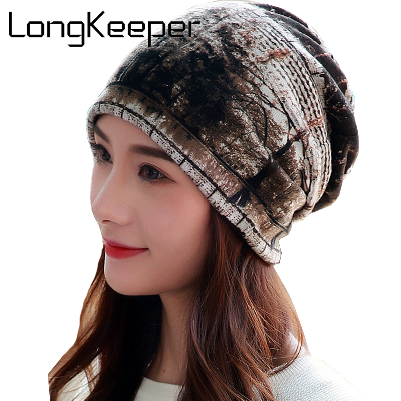 f9acb888084 LongKeeper Fashion Hats For Women Cotton Knitting Beanie Hat Touca Inverno  Winter Head Cap Soft and Warm Design Gorro