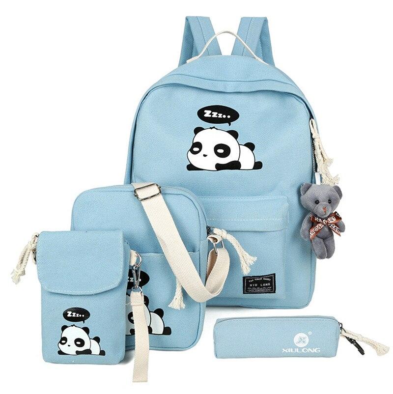 Top-handle Bags 2pcs/set Women Bucket Messenger Bags Solid Crossbody Shoulder Handbag Purse