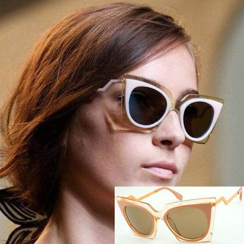 FF 0117/S ORCHIDEA Women Square Sunglasses Designer Brand New Female Glasses Cat Eye Oculos De Sol Retro Fashion
