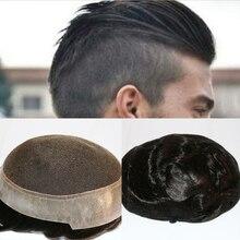 SimBeauty Австралийская база(швейцарское кружево с ПУ силиконовым вокруг) пользовательские мужские Зажим для парика человеческих волос Замена протез
