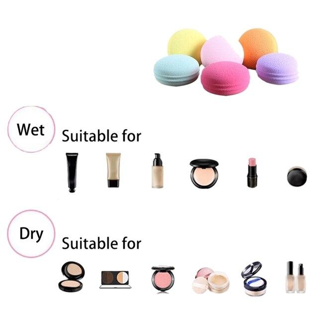 Beauty Sponge 6Pcs/Set Macarons Foam Cosmetics Makeup Blender - For Liquid Foundation, Concealer, Cream, Powder, Blush 5