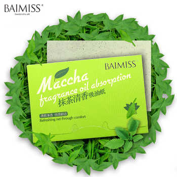 100sheets/pack Facial Tissue Paper Green Tea Smell Facial Oil Absorbing Paper Facial Oil Controling and Oil Blotting Clean Paper