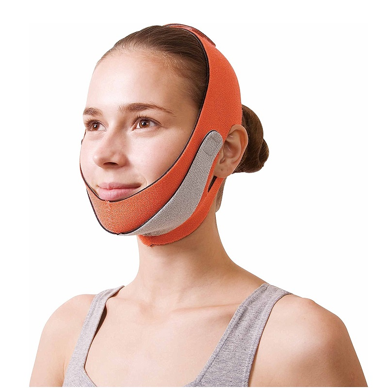 Japan Cogit Face Lift Mask for Double Chin Anti Wrinkle Face Lifting Jowly Breathable Elastic Line Belt Strap Face Slimming