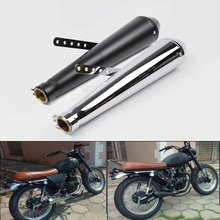 Universal Motorcycle Retro Exhaust Muffler Pipe For 38/40/43/45mm Stainless Steel Tail System