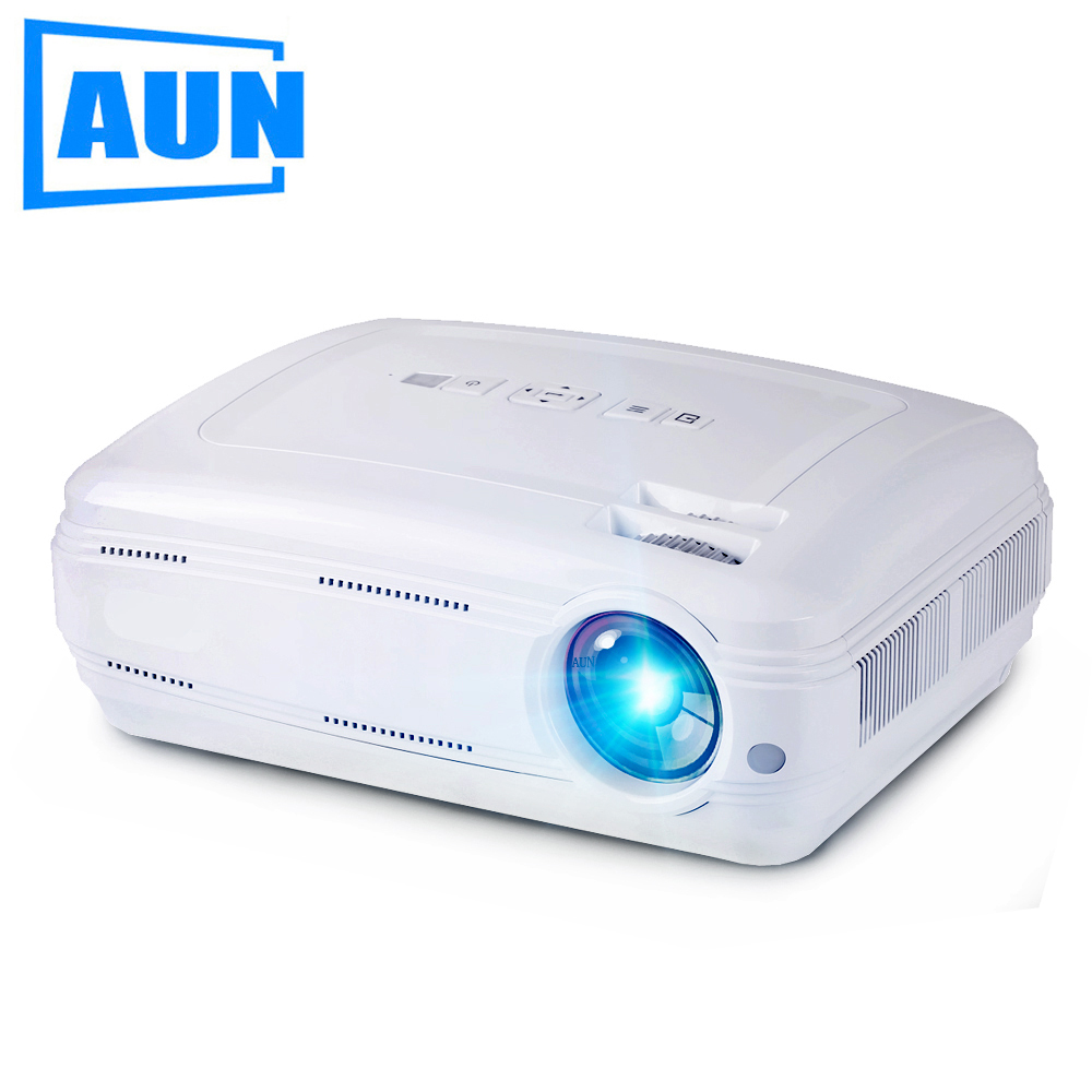 AUN AKEY2 LED Projector, 3500 Lumens Android 6.0 Beamer. Built-in WIFI, Bluetooth, Support 4K Video, Full HD 1080P LED TV tv home theater led projector support full hd 1080p video media player hdmi lcd beamer x7 mini projector 1000 lumens