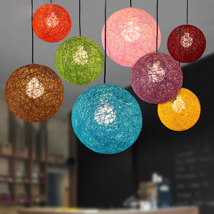 Colorful Ma Rattan Ball LED String Fairy Lights Wicker Pendant Light For Christmas Xmas Wedding decoration Party bar aisle lamps high quantiy 28 ball led 5m string light for christmas xmas holiday wedding party decoration fashion holiday light 8 mode work