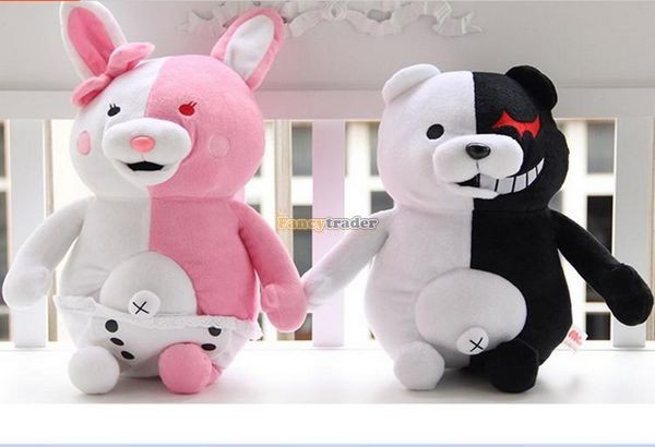 Fancytrader 28\'\' 70cm 2 pcs Giant Stuffed Cute Plush Monokuma and Monomi, Free Shipping FT50353 (9)