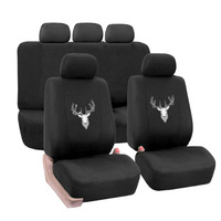 Universal 9PCS Car Seat Covers Automobiles Seat Cover Protector Seat Cushions Car Interior Accessories Antler Pattern