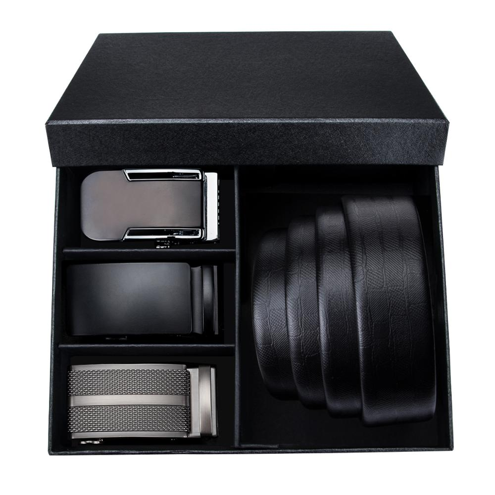 PT 0027 Fashion Automatic Buckle Genuine Leather luxury Belts Male Barry Wang Alloy Buckle Belts For