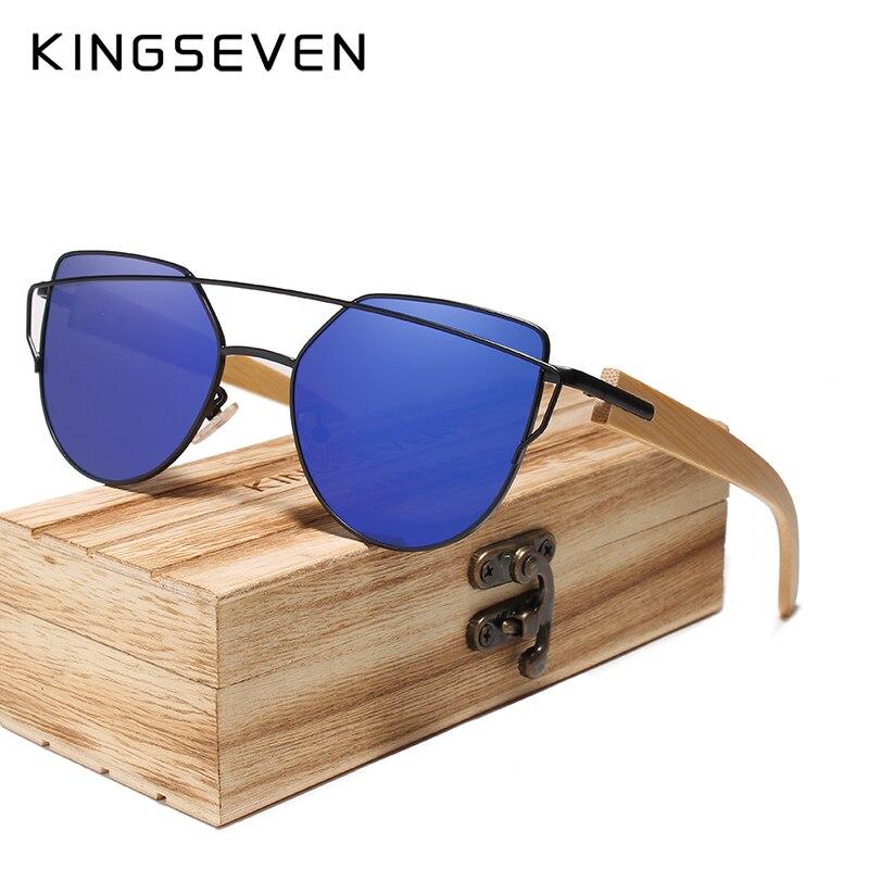 KINGSEVEN In Legno Fatti A Mano Occhiali Da Sole Da Uomo di Bambù Occhiali Da Sole di Marca Delle Donne di Disegno Originale In Legno Occhiali Oculos de sol masculino
