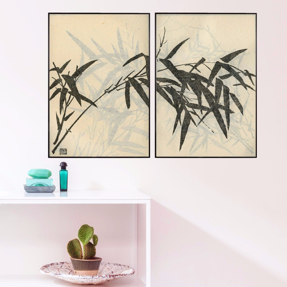 Bamboo Chinese Watercolor Canvas Art Print Painting Poster Wall Pictures For Living Room Home Decorative Bedroom Decor No Frame