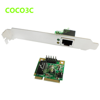 Mini PCIE Network Lan Controller Card Gigabit Ethernet Card 10/100/1000 Base T with RJ45 Port Bracket To Laptop Servers