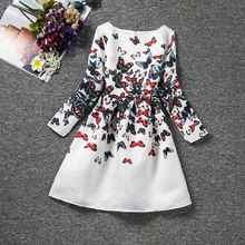 Kids Girls Dresses Butterfly Floral Print Clothing 6-12 Years