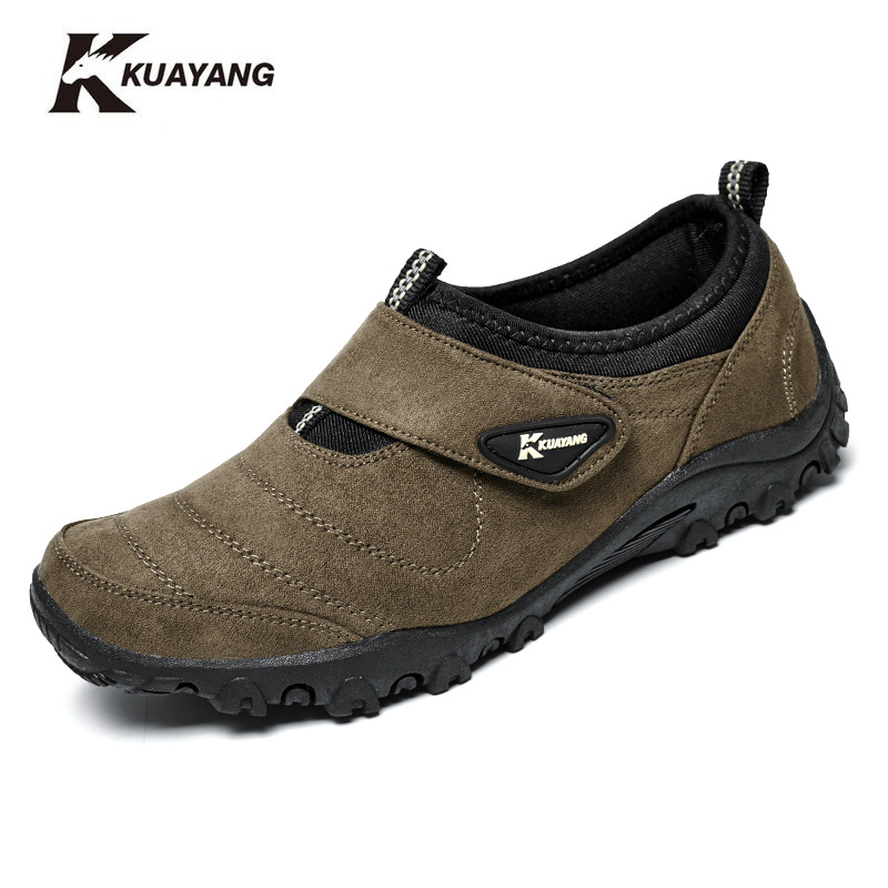 Special-erbjudande Medium (b, m) Slip-on Flock Mäns Skor, Super Light Skor Män, Brand Casual Shoes, Quality Walking Shoe Freeshipping