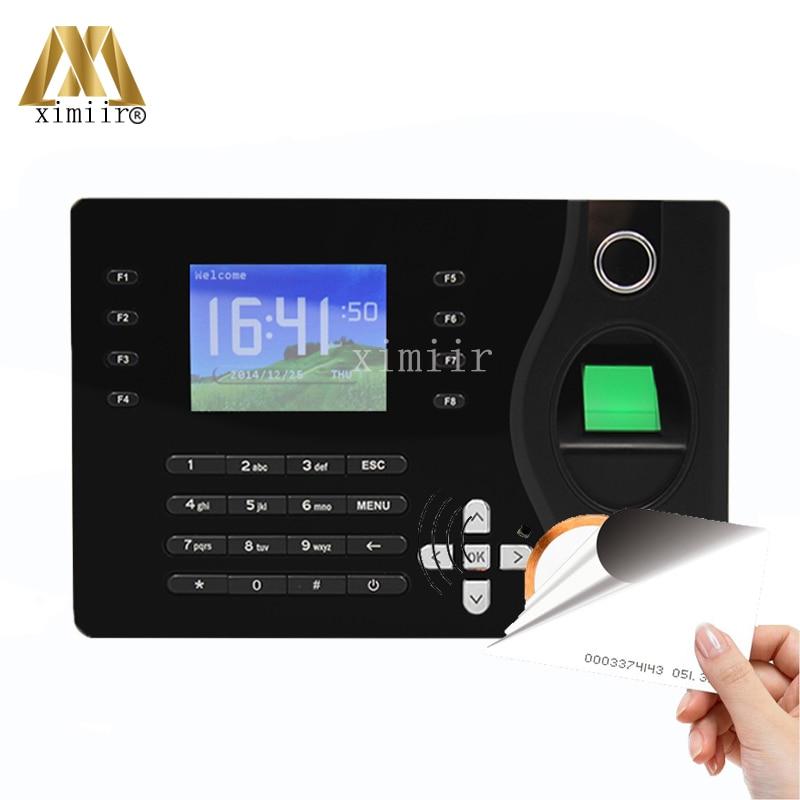 TCP/IP Ports Biometric Fingerprint 125KHz RFID Card Reader Time Attendance Clock Employee Recorder A-C081 a c051 biometric fingerprint time attendance built in rfid card reader with tcp ip communication fingerprint time clock recorder