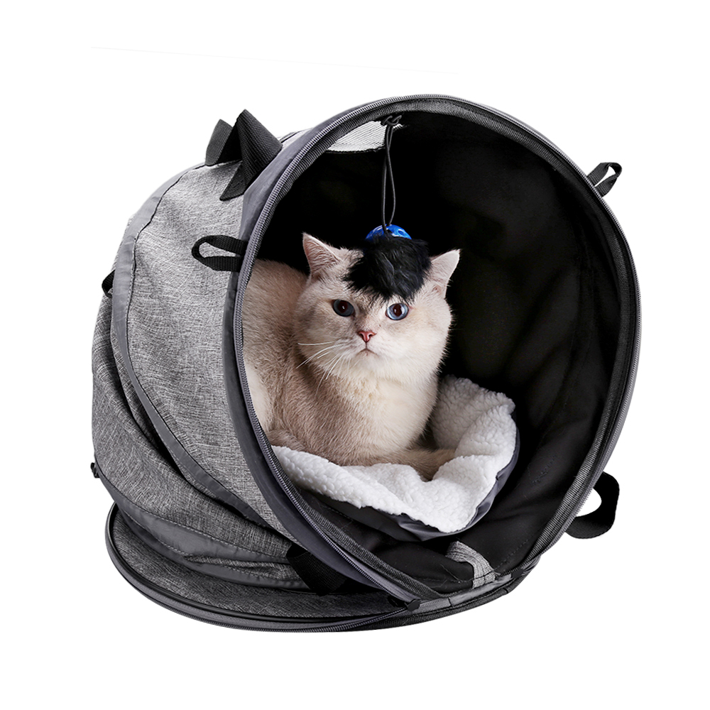 Multifunctional Cat Carrier Portable Bed Collapsible Cat Tunnel With Changeable Shapes Mat Toys Docamor Foldable Pet Cat Carrier