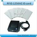 15 formato de saída leitor RFID + 10 pcs freqüência 125 KHZ RFID cartão de acesso, espessura 1.2 MM (porta USB TXT)