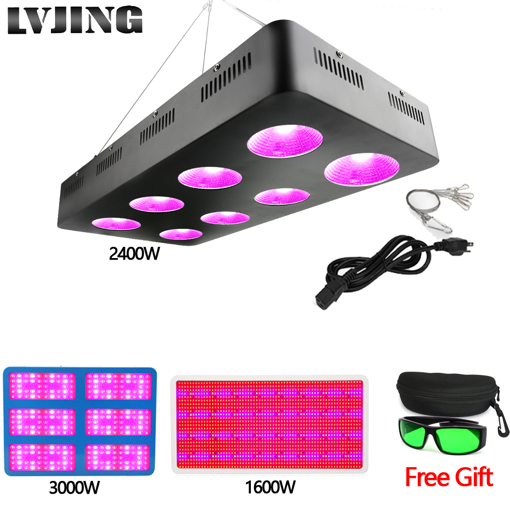 LVJING LED grow light 1600W/2400W/3000W Full Spectrum for Indoor Greenhouse Vegs grow tent Medical Plants grow led light Lamps led grow light 1000w 2000w 3000w full spectrum grow lamps for medical flower plants vegetative indoor greenhouse grow tent