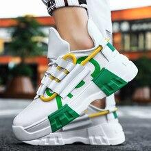 Yrrfuot moda fundo grosso dos homens tênis tendência ao ar livre sapatos masculinos luz respirável venda quente sapatos casuais populares sapatos de lazer 1