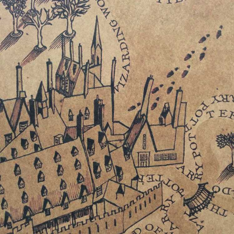 Map of The Wizarding World of Harry Potter Movie Posters Decoration  Frameless Restoring Ancient Ways Wall Stickers Cosplay Props