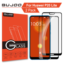 2 Pack 100% Original BUJOO 2.5D 0.3mm 9H Full Cover Tempered Glass Screen Protector For Huawei P20 Lite Nova 3e Protective Film