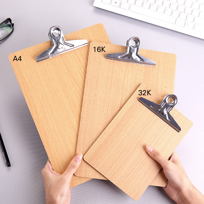 Wooden A4 Clipboards Stationery Store Clip Wood Folder Board Desk File Drawing Writing Pad School Office Accessory Tool Item Kit creative a4 cute clipboards lovely stationery store clip folder board desk file drawing writing pad school office accessory tool