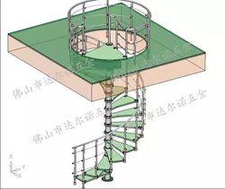 Бесплатная доставка спиральные лестницы установить подлокотник клиента Проект лестницы