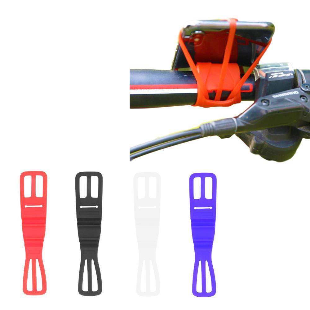 Silicone Bike Phone Holder Strap Mountain Road Bike Torch Phone Flashlight Bands Elastic Universal Bandage Bicycle Accessories
