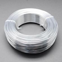 Fil d'aluminium, argent, 2mm de diamètre, sur 50 m/roll