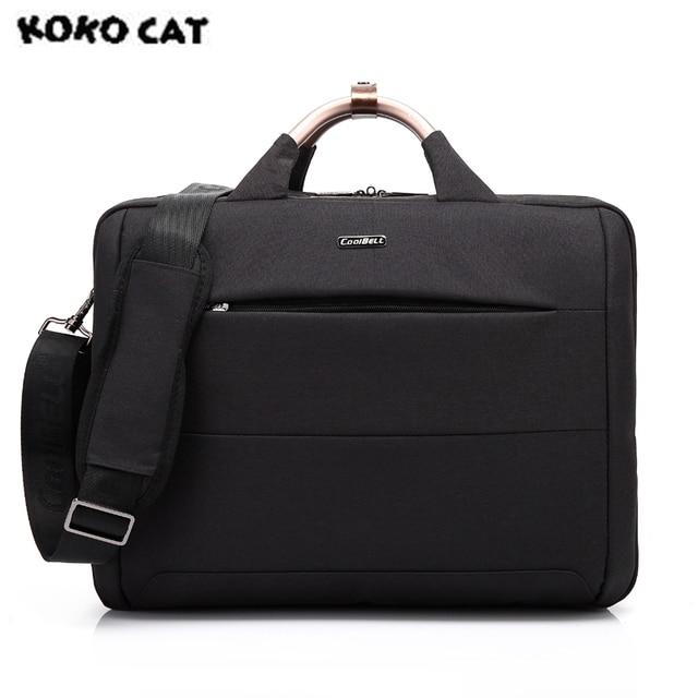 In Stock 2017 KOKOCAT Oxford Fashion 15.6 inch Notebook Computer Laptop Handbag for Men Women Solid Black Briefcase Bags 6305